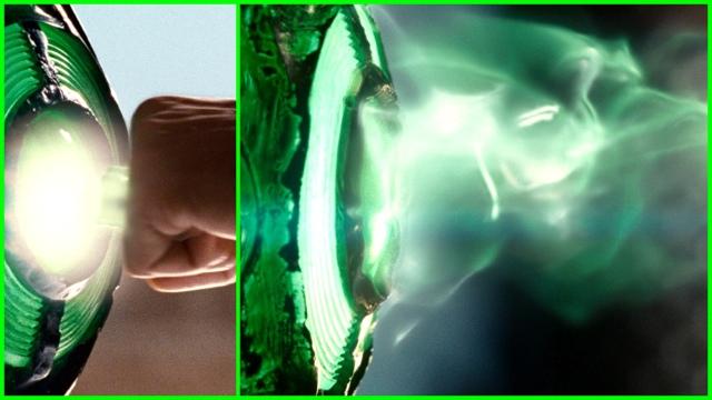O anel e a bateria energética do Lanterna Verde