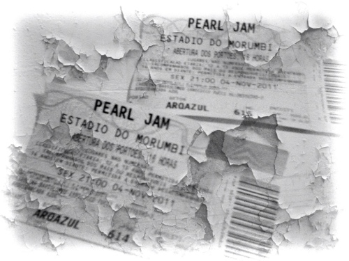 A prova do crime: ingressos pro show do Pearl Jam no Morumbi - 04/11/2011