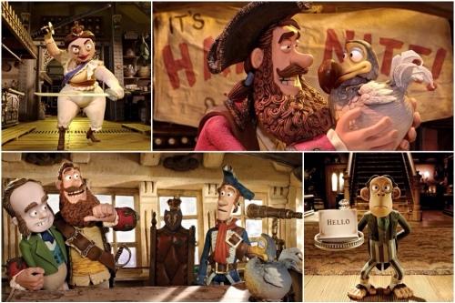 Rainha Vitória, Capitão Pirata, Charles Darwin e Sr. Bobo