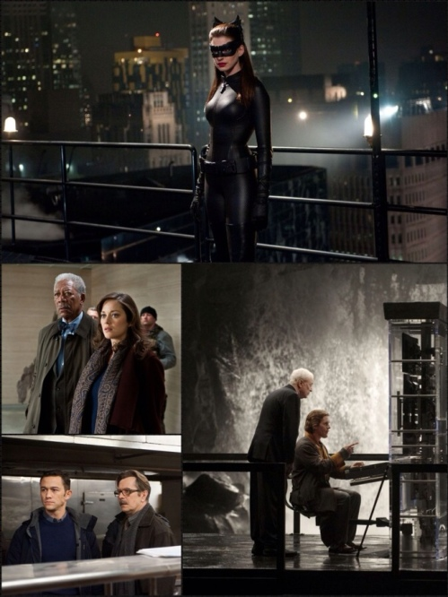 Anne Hathaway, Morgan Freeman, Marion Cotillard, Joseph Gordon-Levitt, Gary Oldman, Michael Caine, Christian Bale