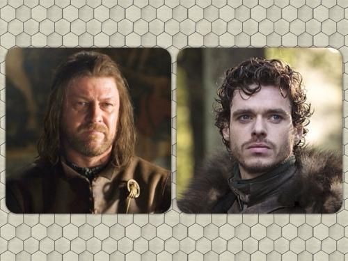 Eddard & Rob Stark