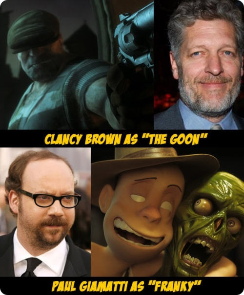 Clancy Brown as The Goon / Paul Giamatti as Franky