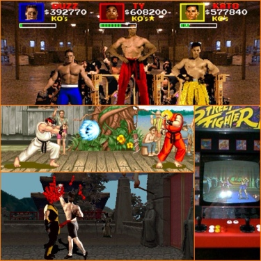 Pit Fighter, Street Fighter 2, Mortal Kombat