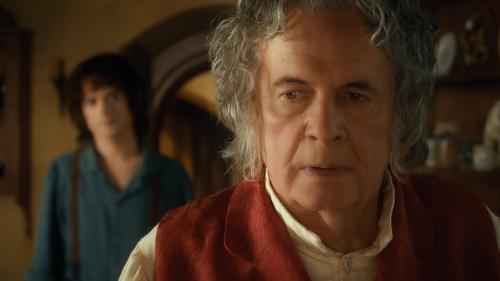 Ian Holm e Elijah Wood / Bilbo e Frodo
