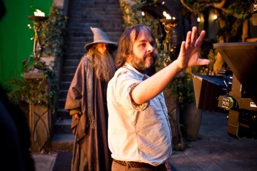 Peter Jackson dirigindo O Hobbit