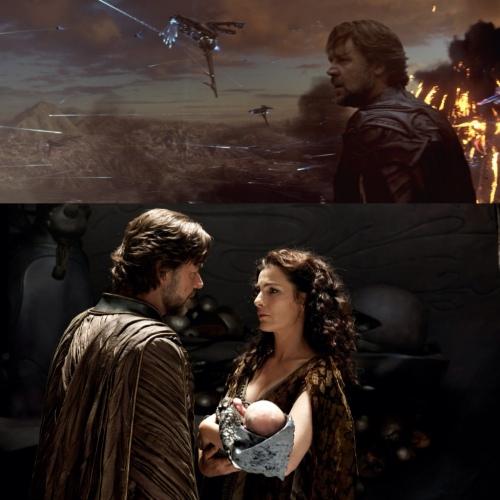Jor-El, Lara e Kal-El em Kypton / Man of Steel / O Homem de Aço